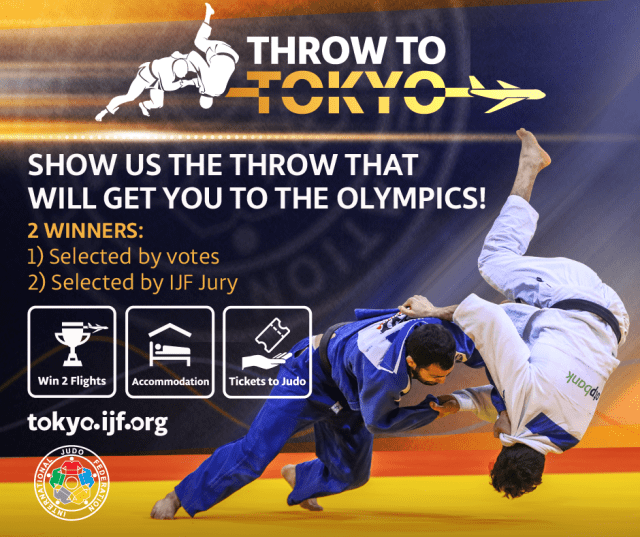 The Throw to Tokyo competition, which offered free flights, accommodation and tickets to see the Olympic judo contest in the Japanese capital, will start again next year ©IJF