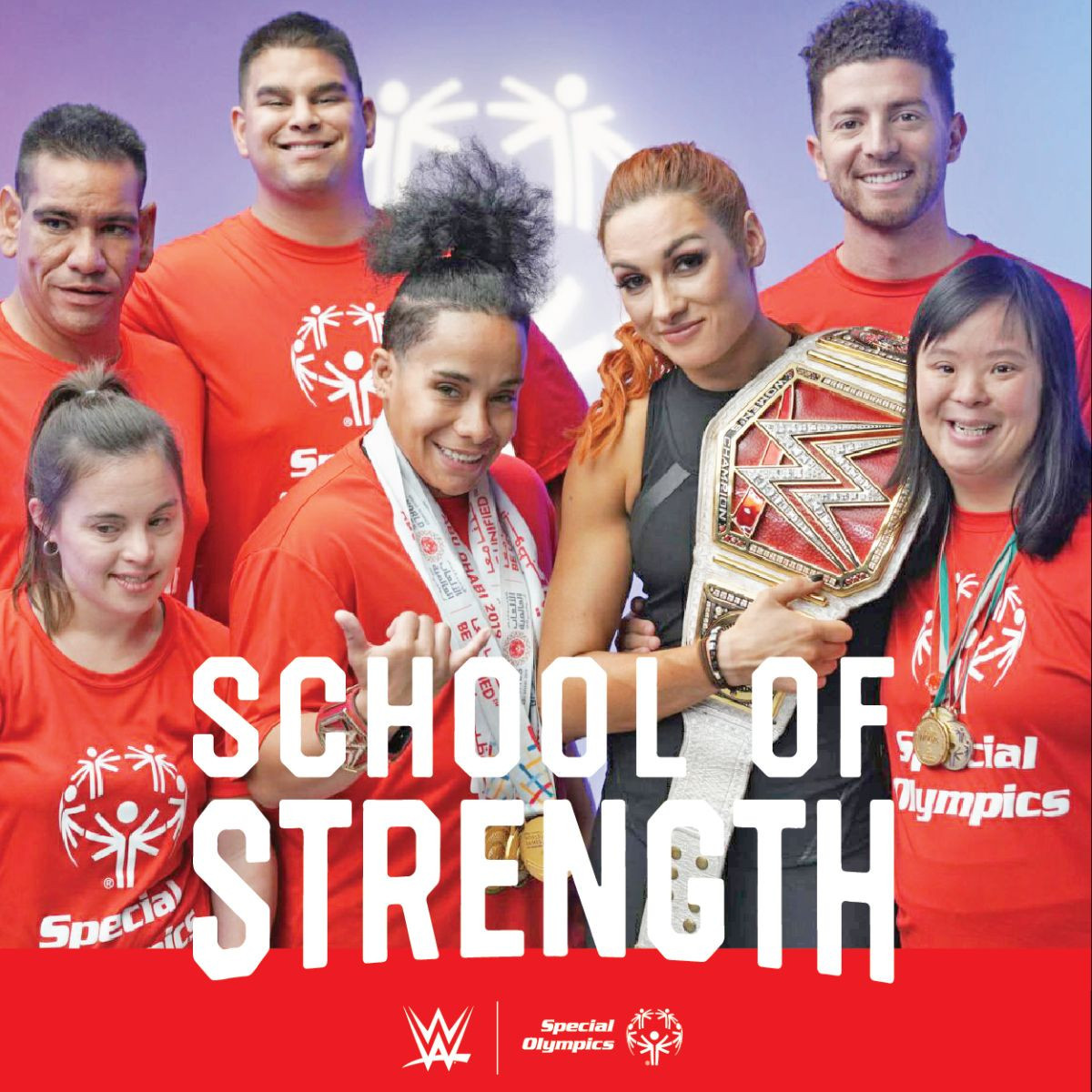 WWE star Becky Lynch features in workout videos alongside six Special Olympics athletes ©Special Olympics