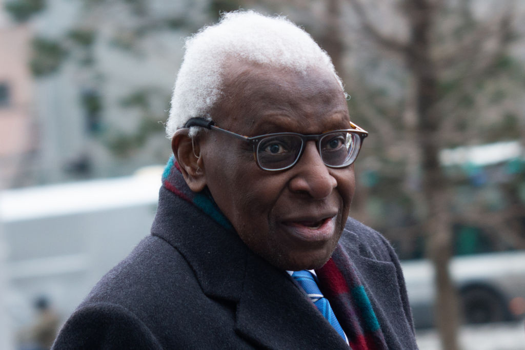 The Tokyo 2020 Executive Board member admitted he gave gifts to Lamine Diack, pictured ©Getty Images
