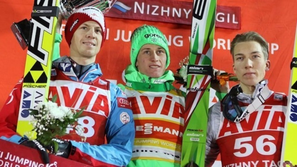 Petr Prevc earned victory in the men's event