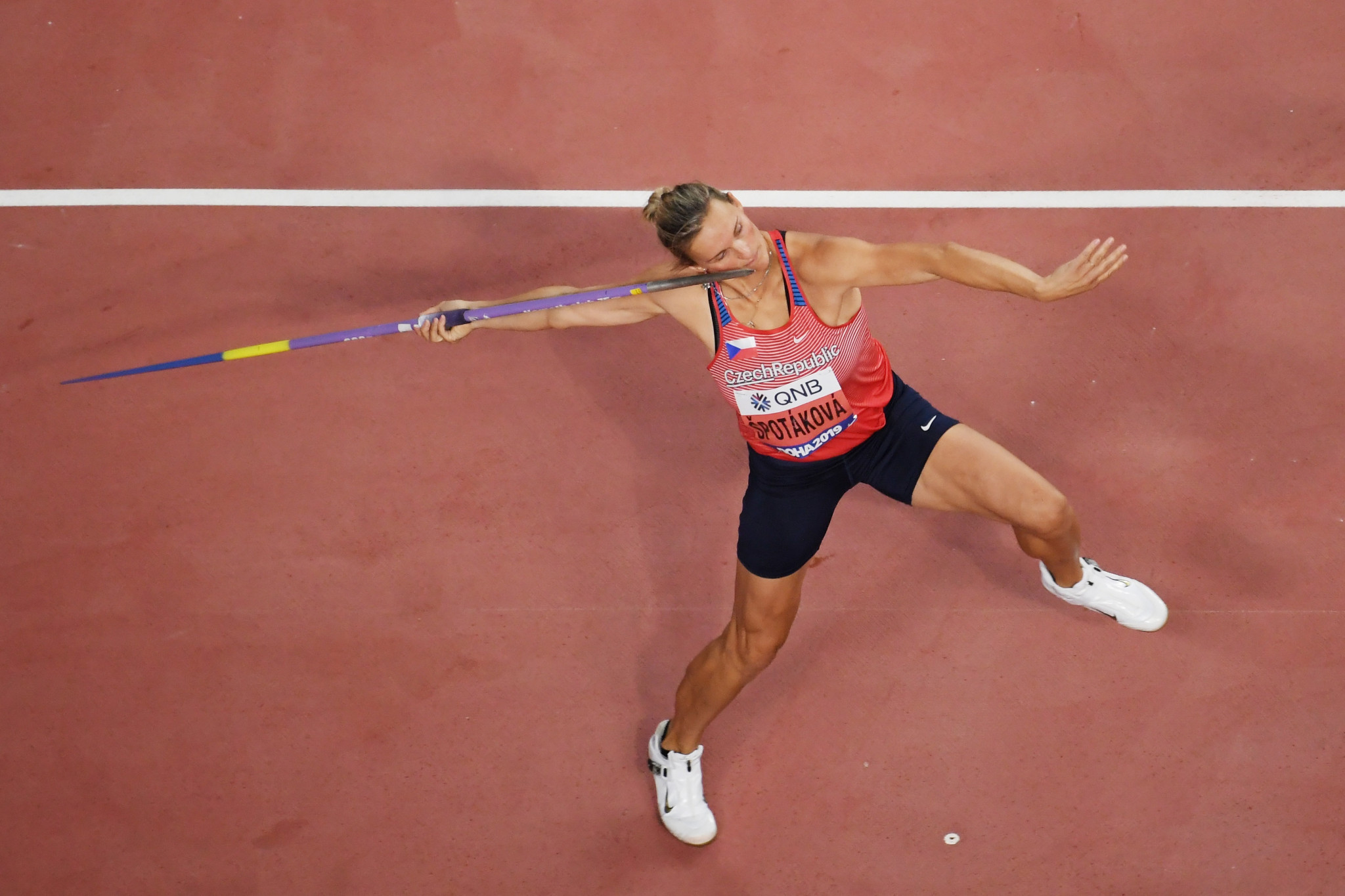 Barbora Špotáková is a two-time Olympic champion and three-time world champion ©Getty Images