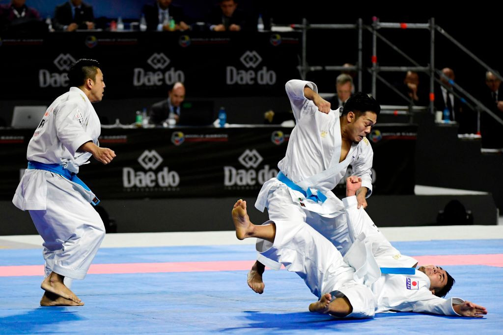 Karate's Olympic debut has been delayed after Tokyo 2020 was postponed until 2021 ©Getty Images