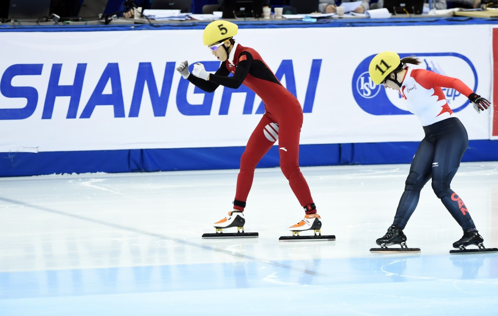 Hosts China claim three titles as ISU Short Track World Cup concludes in Shanghai