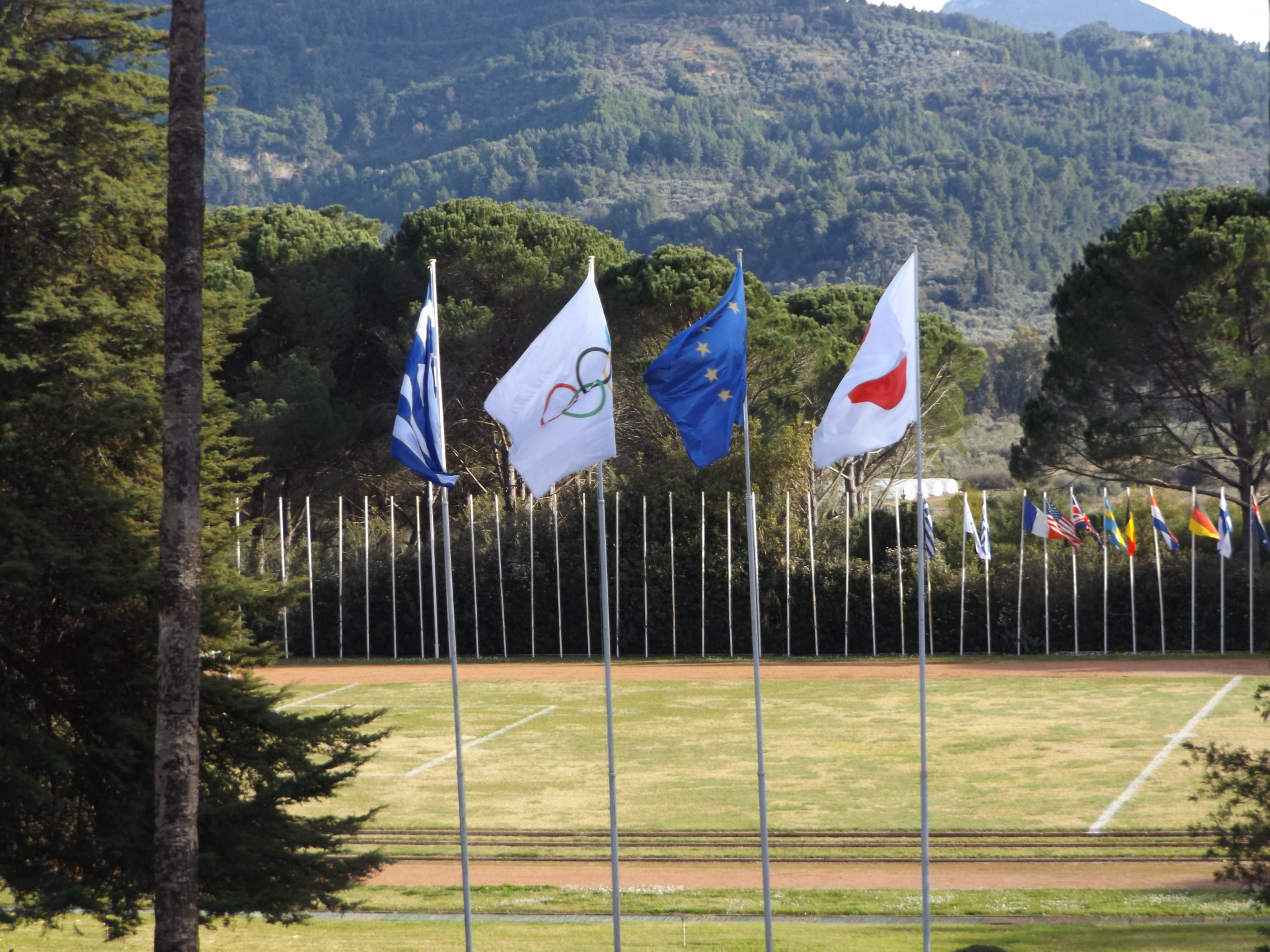 The sports field at the International Olympic Academy will be modernised as part of the facelift ©Philip Barker