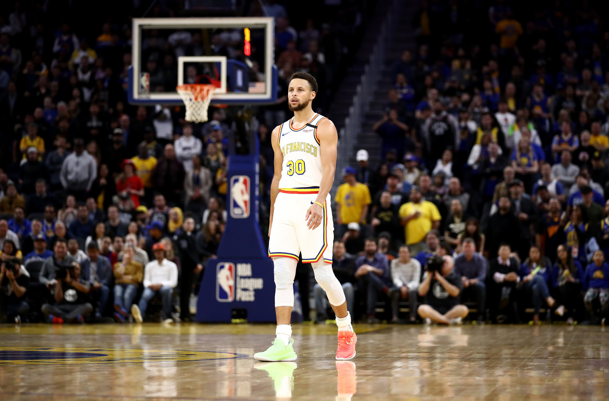 Basketball player Stephen Curry is one of many sport stars to have donated money to help fight the coronavirus pandemic ©Getty Images