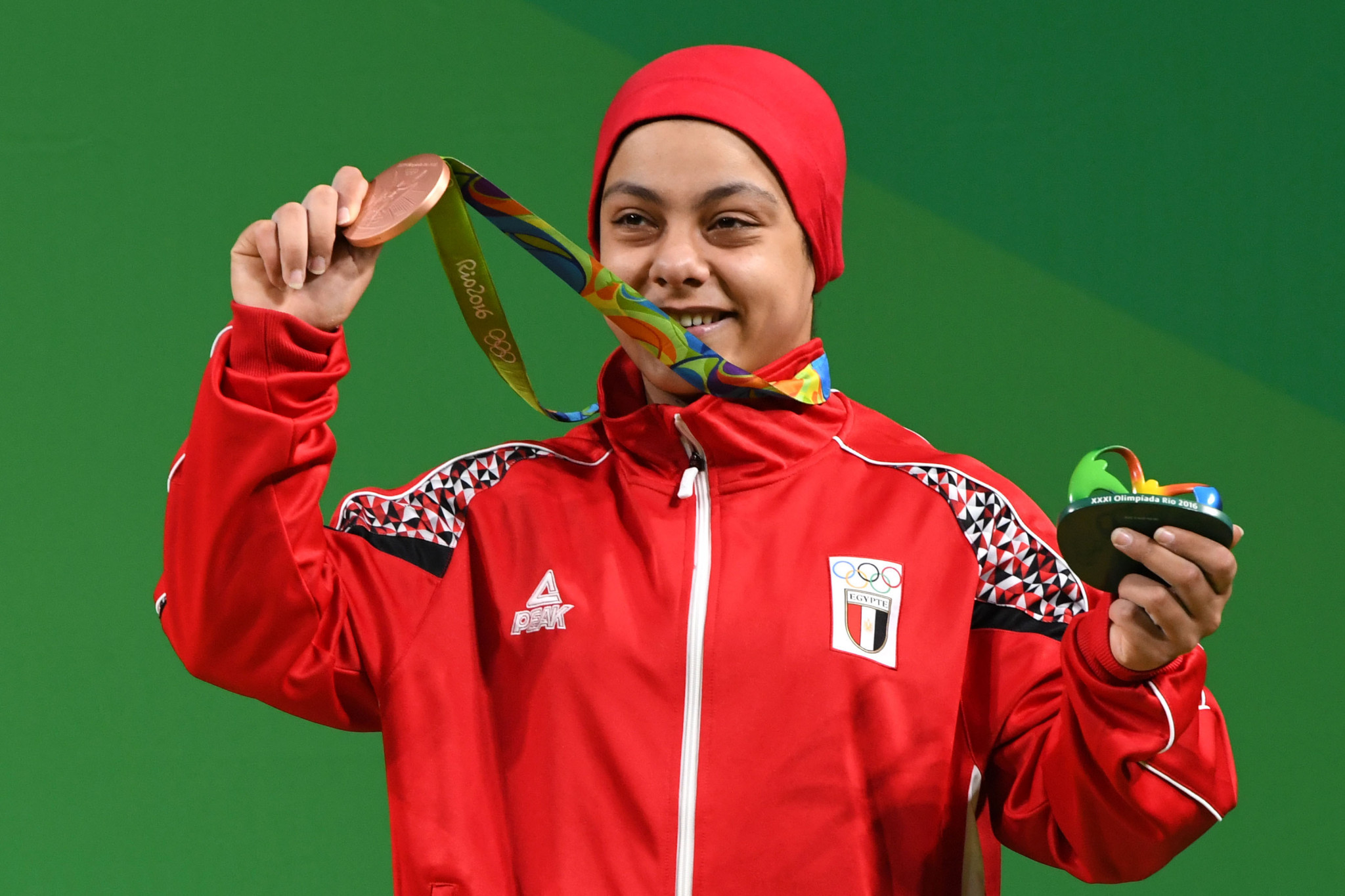 Egypt's Sara Ahmed was the only African woman to win an Olympic medal at Rio 2016 ©Getty Images