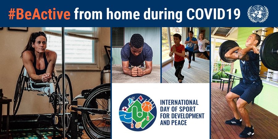 The United Nations encouraged people to be active from home ©UN