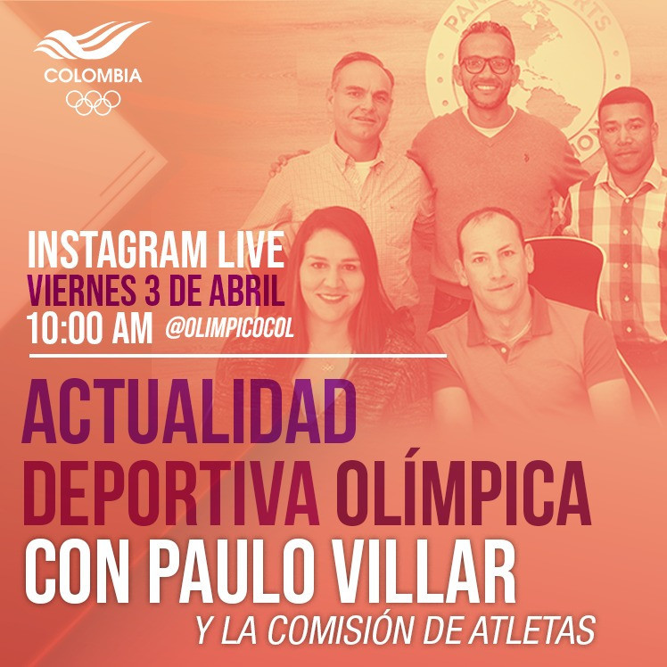 Colombian Olympic Committee Athletes' Commission conducts first Instagram Live broadcast