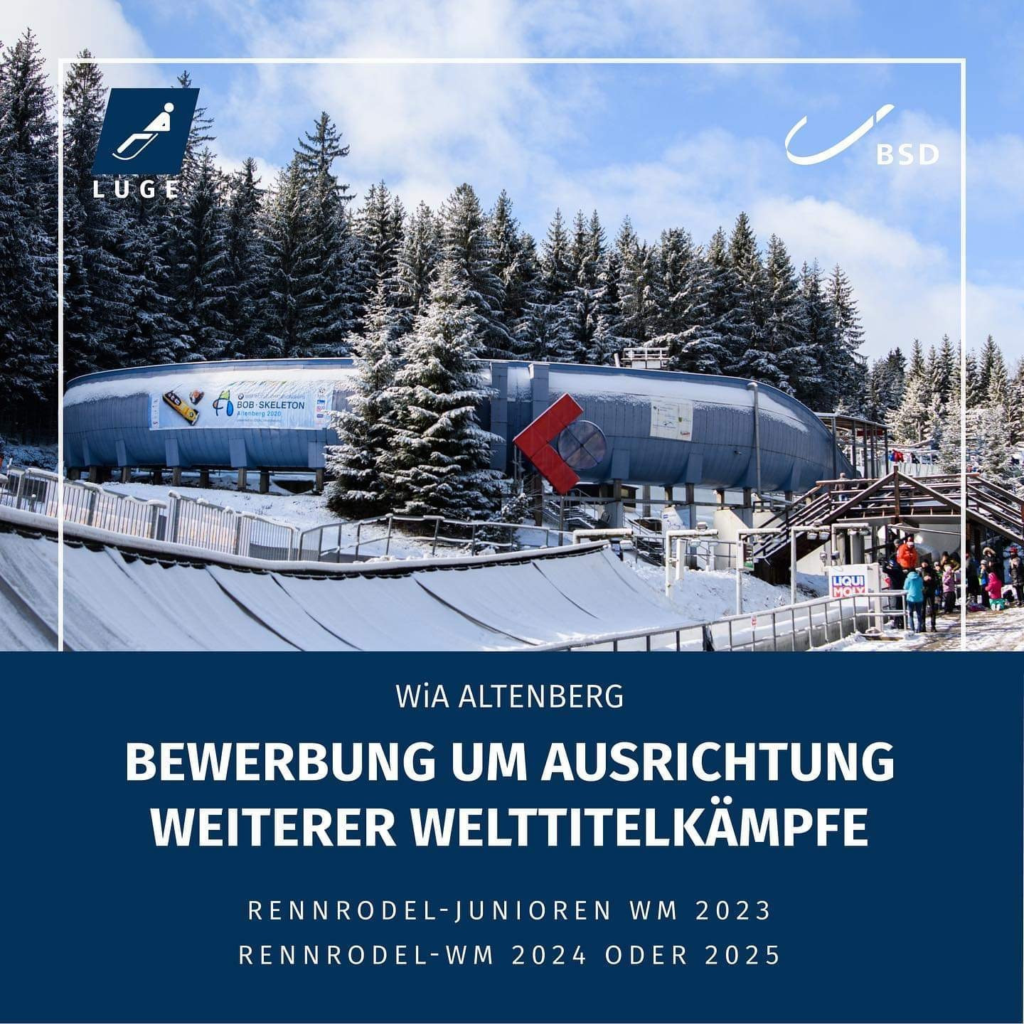 Altenberg to bid for Luge World Championships in 2024 or 2025