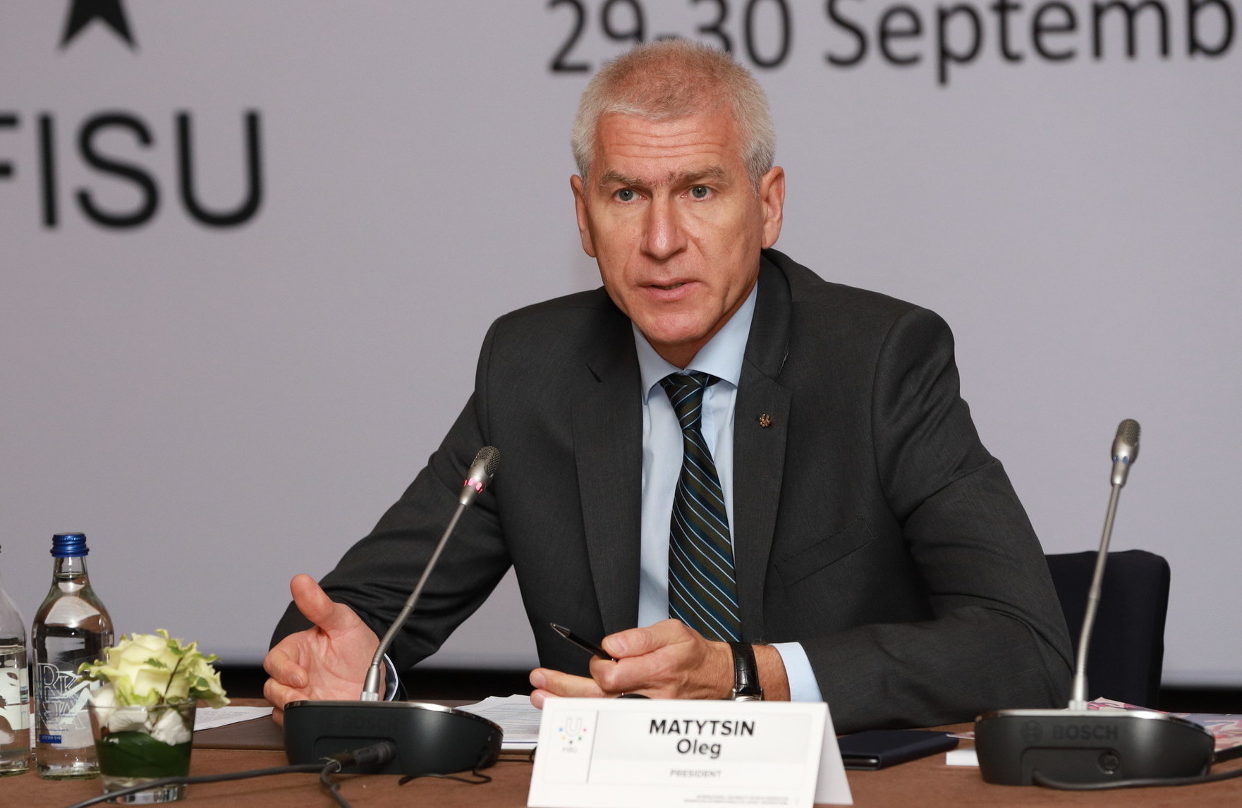 FISU President Matytsin hands out prizes at Russian university sports awards ceremony