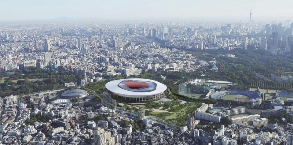 The second proposed design for Tokyo's Olympic Stadium, or Design B