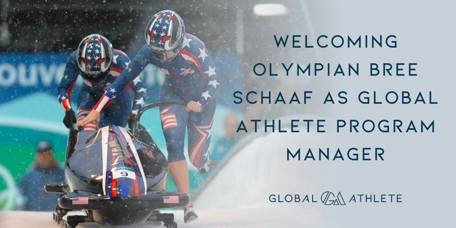 Bobsleigh Olympian Schaaf named programme manager at Global Athlete