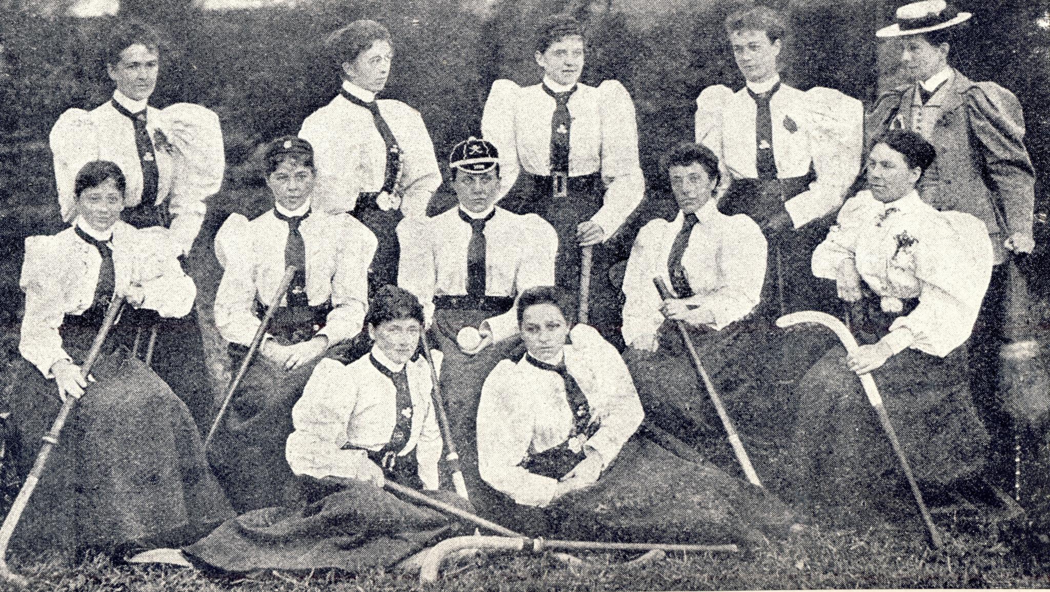 The Irish team of 1896 ©50 Years of Women's Hockey