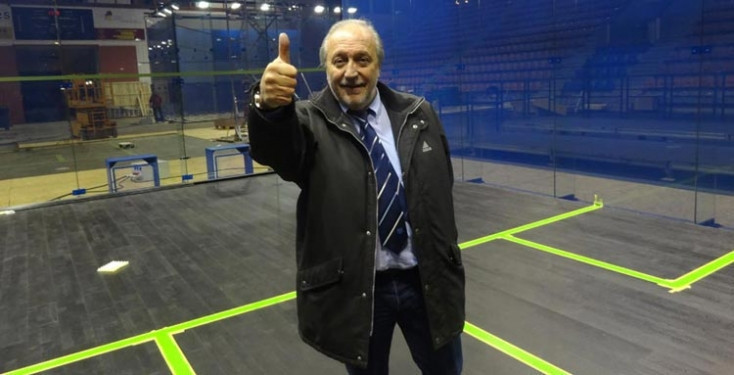 Jacques Fontaine reassured members amid the coronavirus pandemic ©ASB Squash Courts