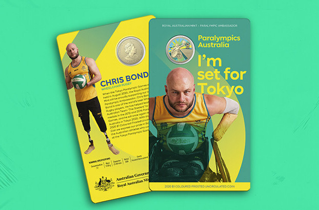 The Royal Australian Mint and the Paralympics Australia have teamed up to make Tokyo 2020 coins ©Paralympics Australia