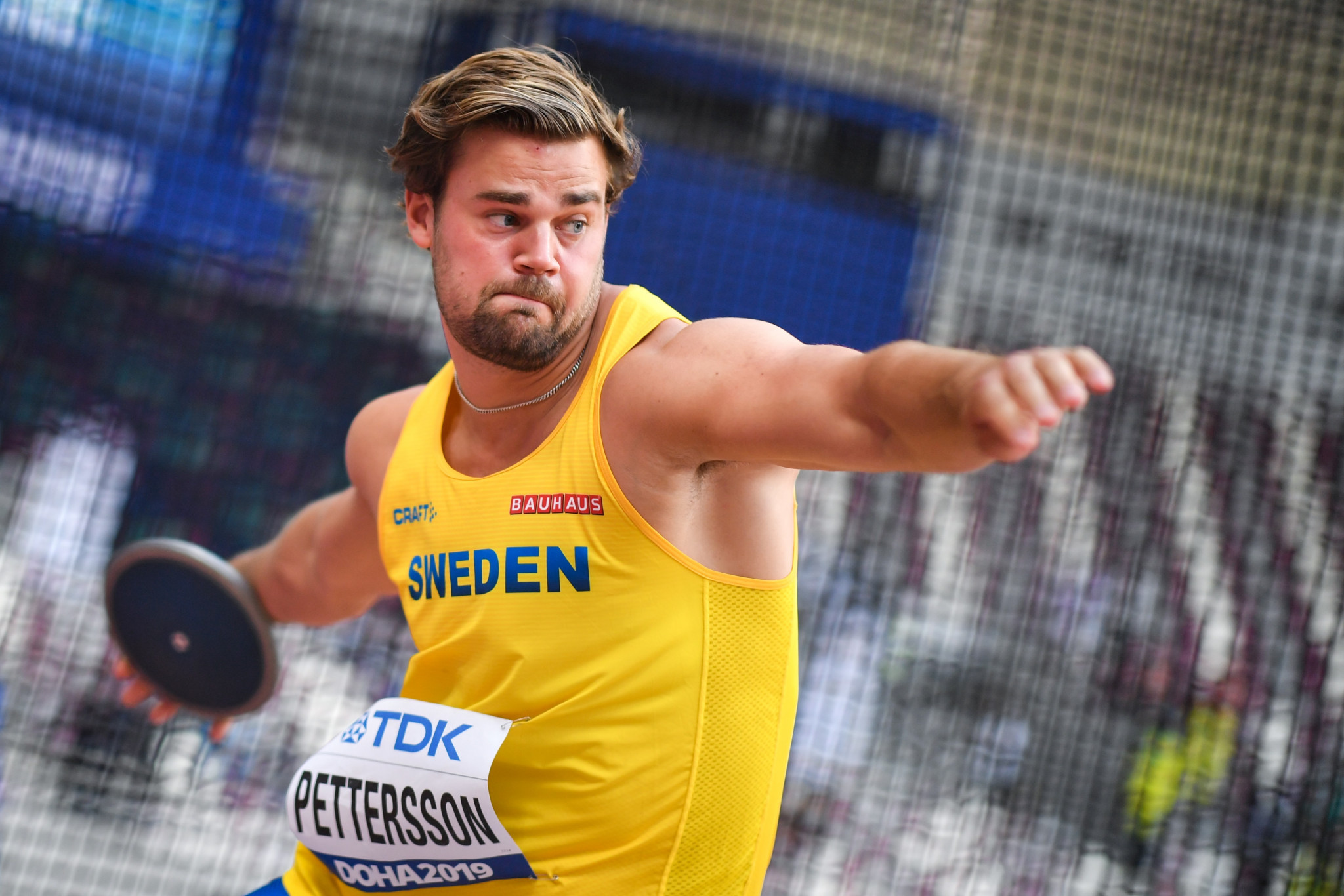 Pettersson takes discus European lead in rare athletics meeting held in Sweden