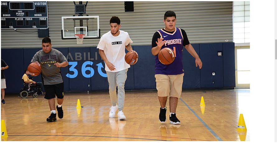 NBA star Devin Booker has been involved in the Special Olympics for years in Arizona ©Special Olympics