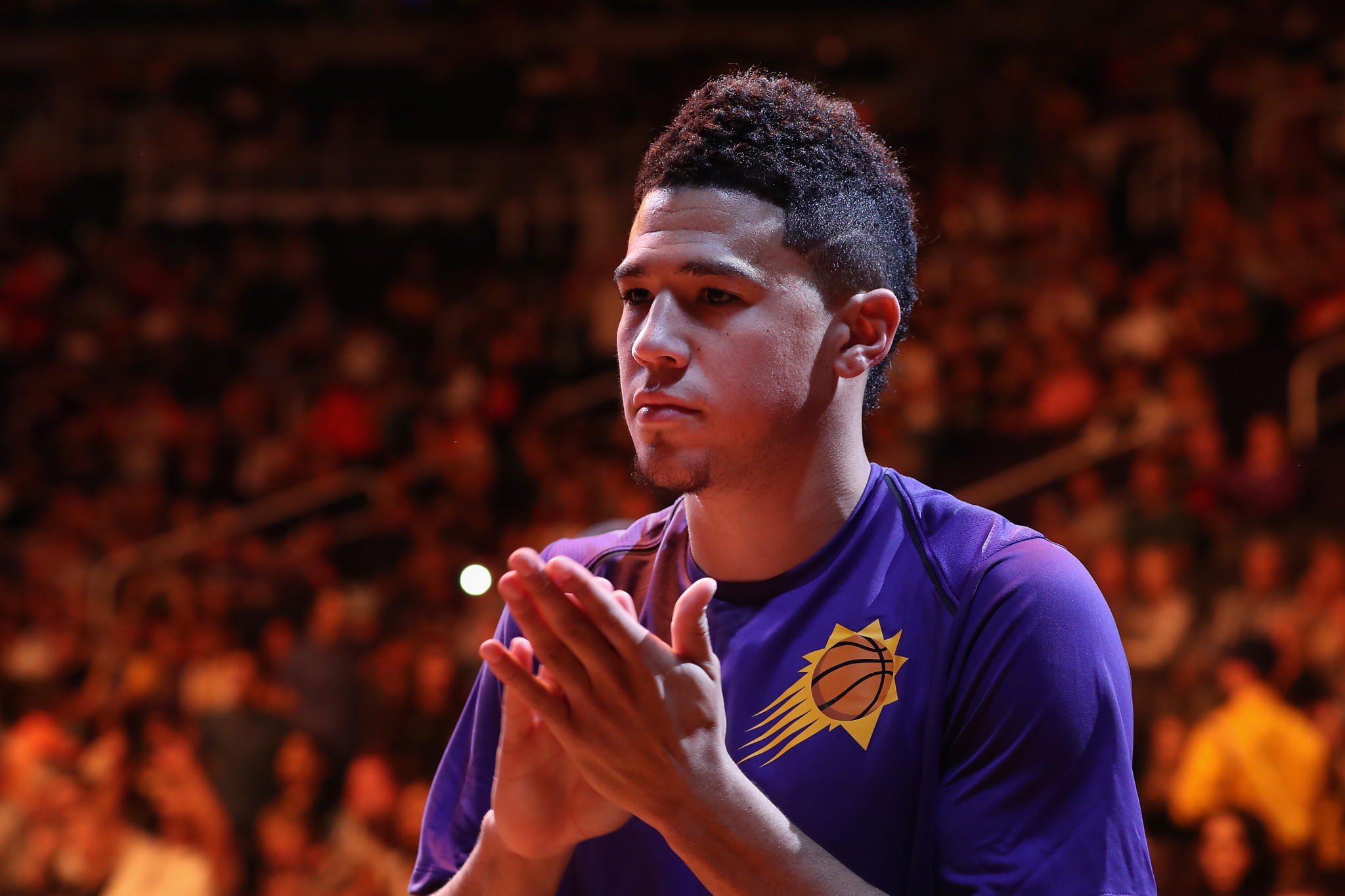 Devin Booker said he was motivated to become an Ambassador because of his disabled sister ©Getty Images