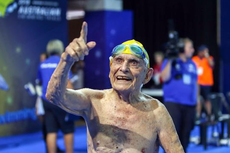 George Corones was named as an honorary member of Australia's team at Gold Coast 2018 ©Commonwealth Games Australia