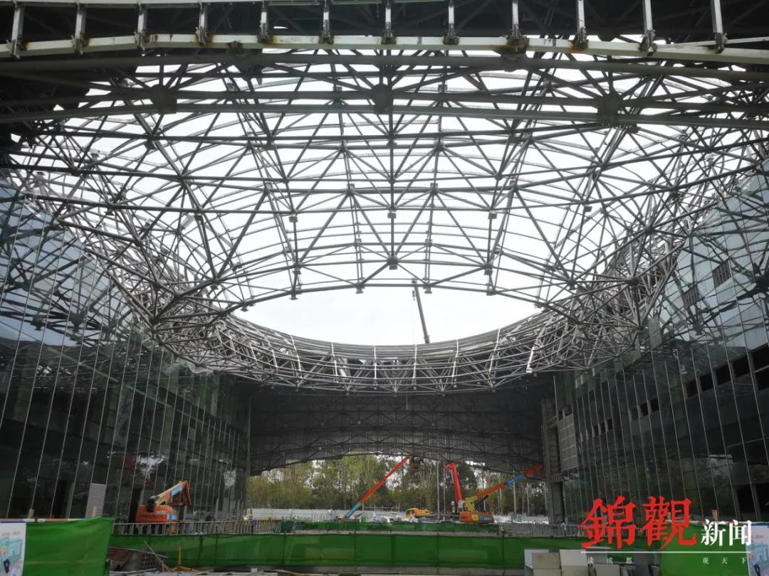 The construction of Xiangcheng Sports Park has resumed ©Chengdu 2021