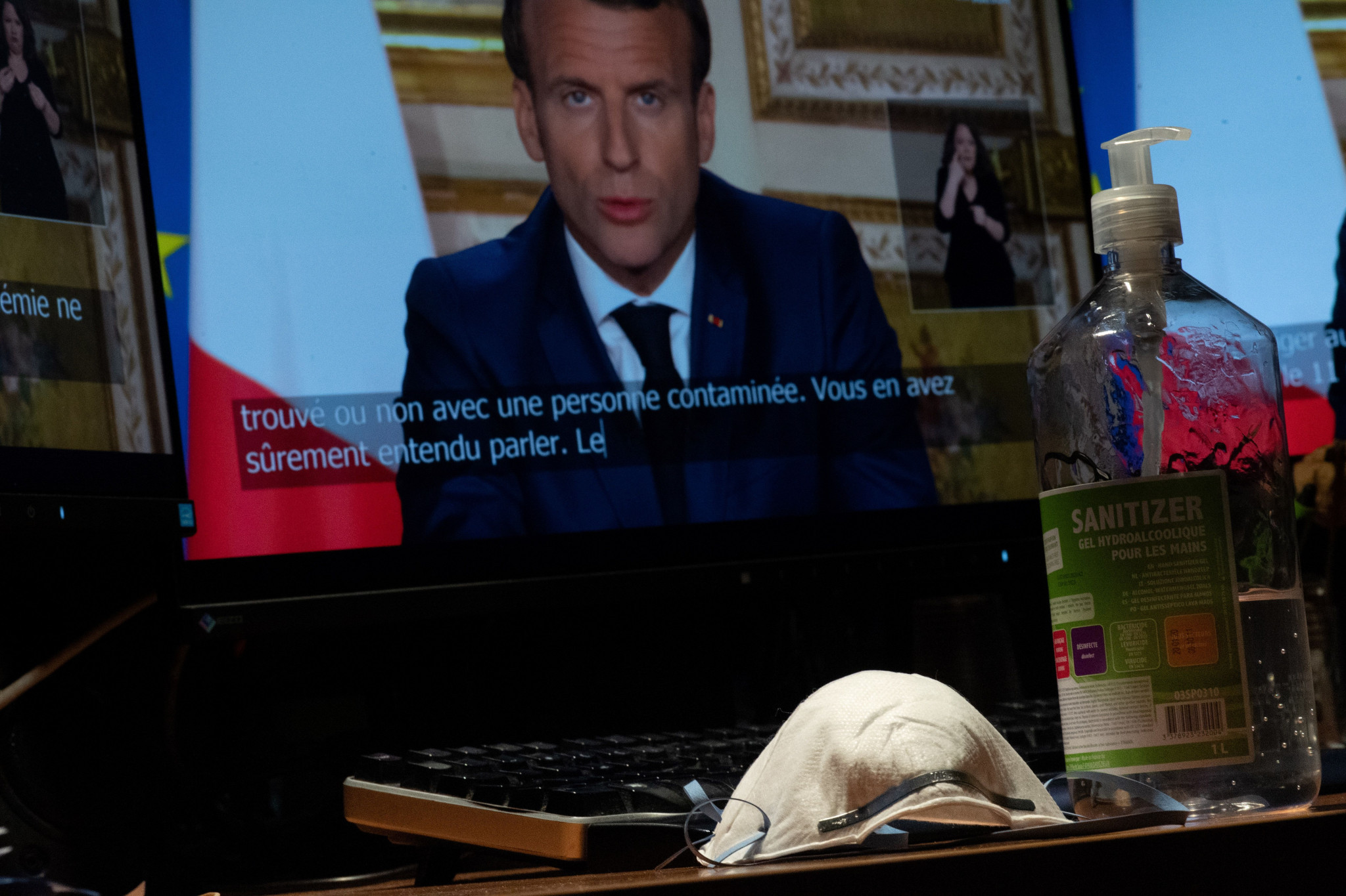 French President Emmanuel Macron addresses the nation today and extended lockdown measures ©Getty Images