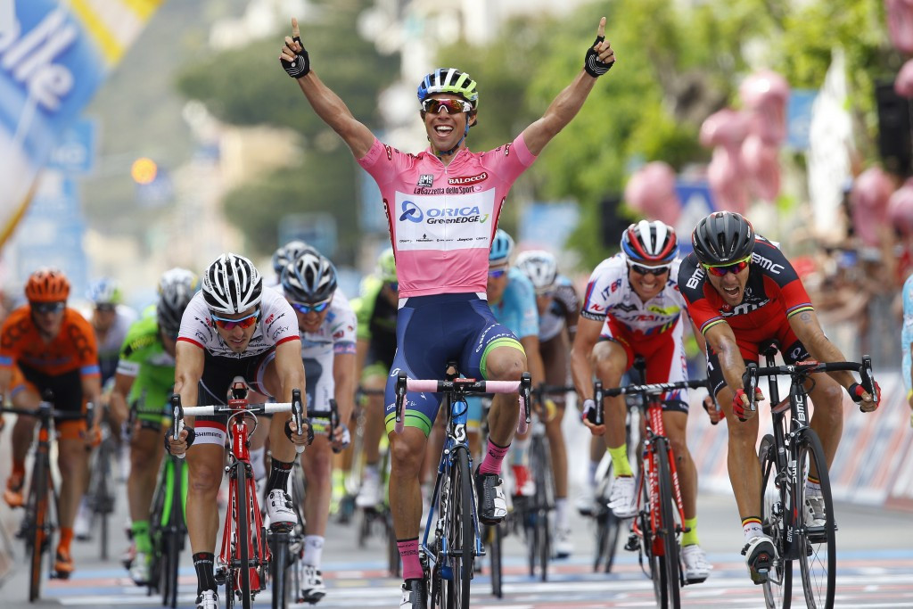 Australia's Matthews wins Giro d'Italia stage three to maintain advantage