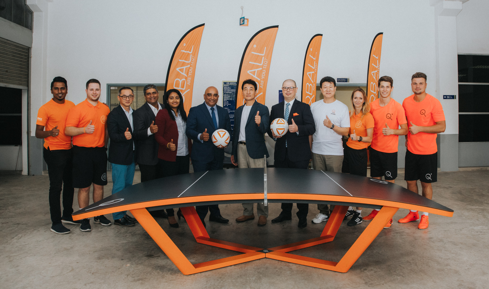 Malaysia is one of 83 countries where teqball is being played ©FITEQ