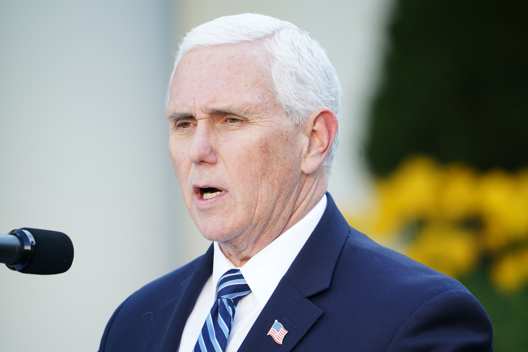 US vice-president Mike Pence was on the conference call ©Getty Images