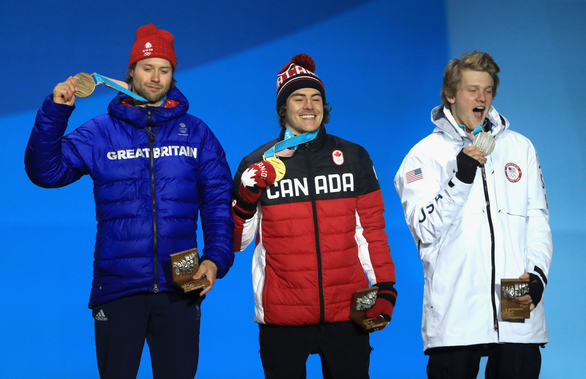 Billy Morgan, left, was one of five British medallists at Pyeongchang 2018 ©Getty Images