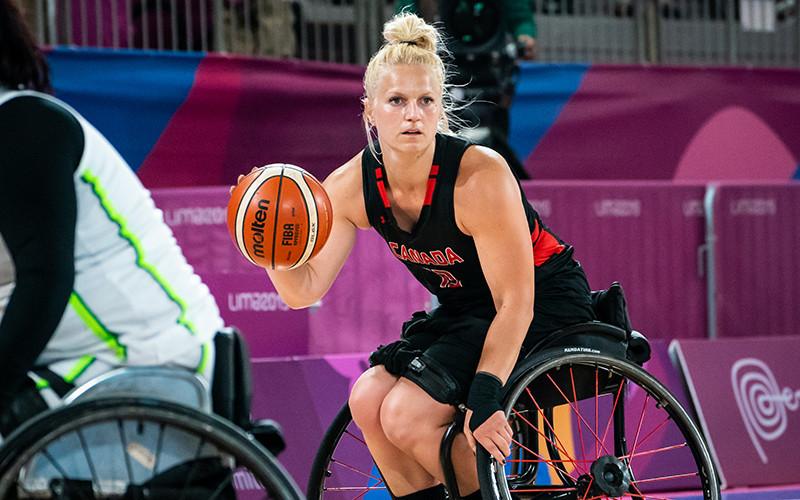 Kady Dandeneau has been named female athlete of the year by Wheelchair Basketball Canada ©WBC