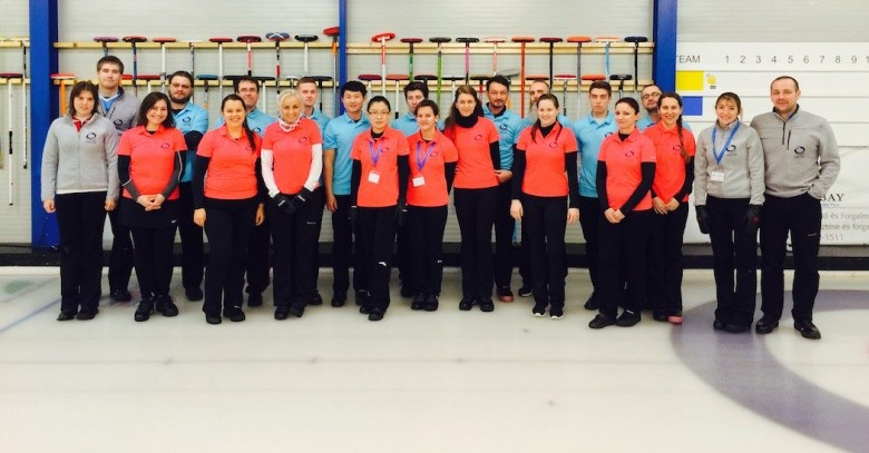Participants attending the first mixed doubles curling training camp ©World Curling Federation