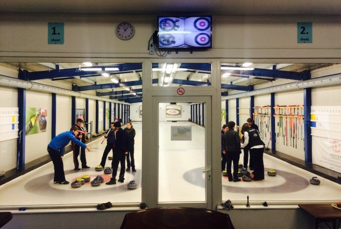 First mixed doubles training camp held by World Curling Federation ahead of Olympic bow