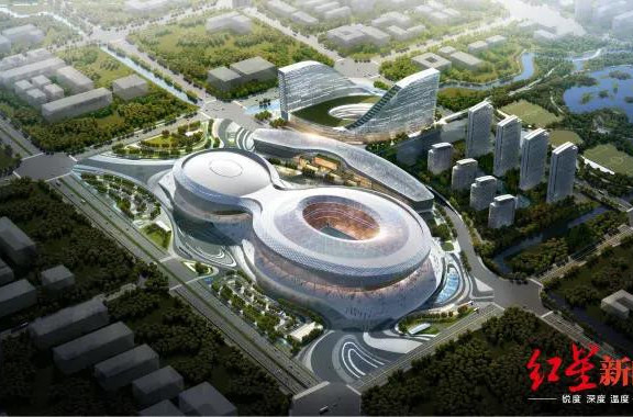 The projected vision of the Phoenix Mountain Sports Park ©Chengdu 2021