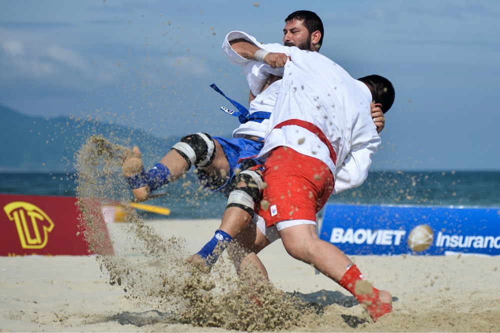 Beach sambo events could be affected in future through climate change, something that FIAS looks to tackle ©FIAS
