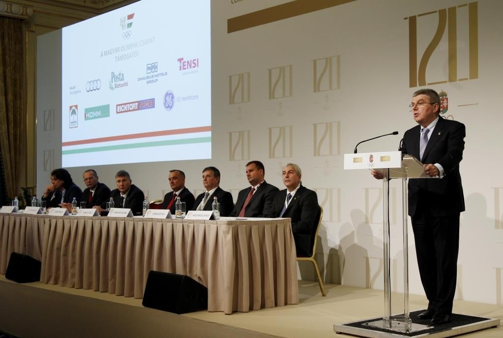 IOC President Thomas Bach hailed Agenda 2020 as the key reason why a country as small as Hungary could bid for the Olympics and Paralympics ©MOB