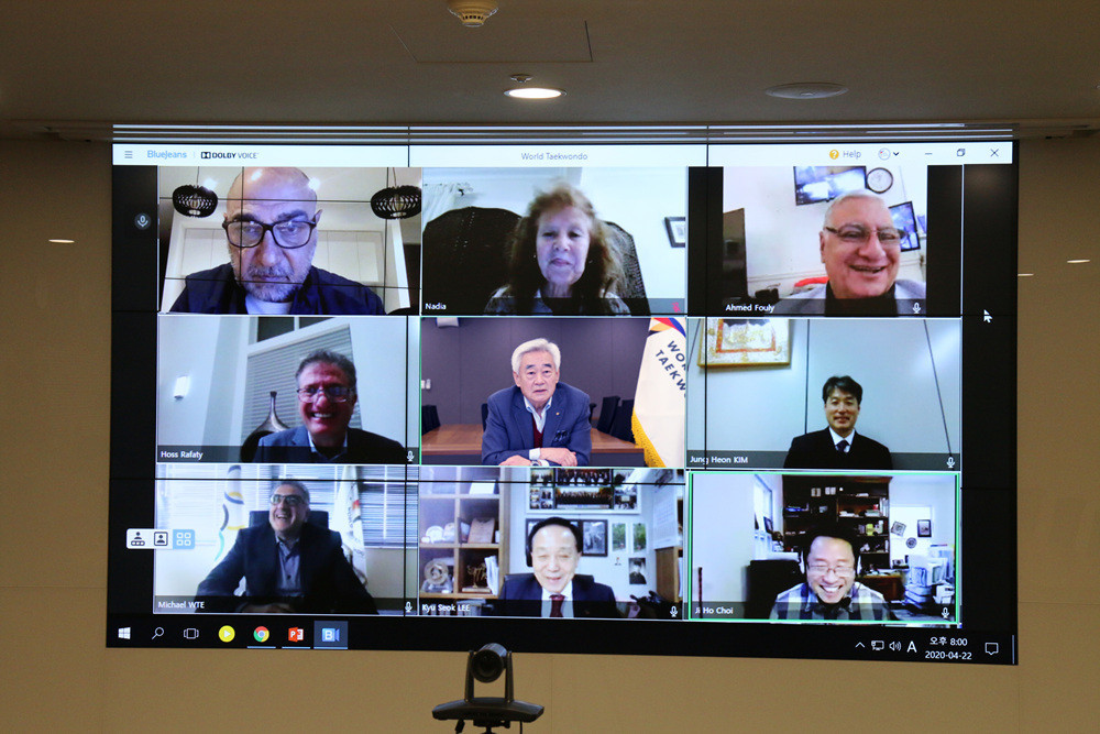 World Taekwondo hold virtual meeting with Continental Unions to discuss COVID-19 fight