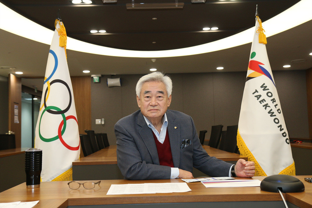 World Taekwondo President hosts video call with young refugees