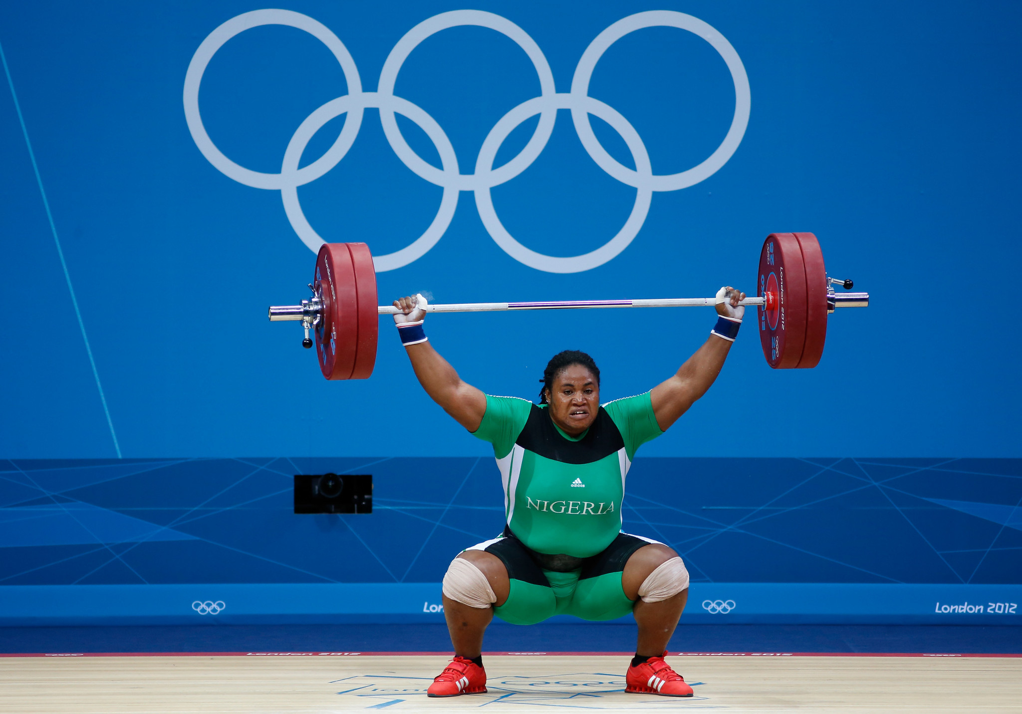 Mariam Usman earned Nigeria's only Olympic weightlifting medal at Beijing 2008 ©Getty Images