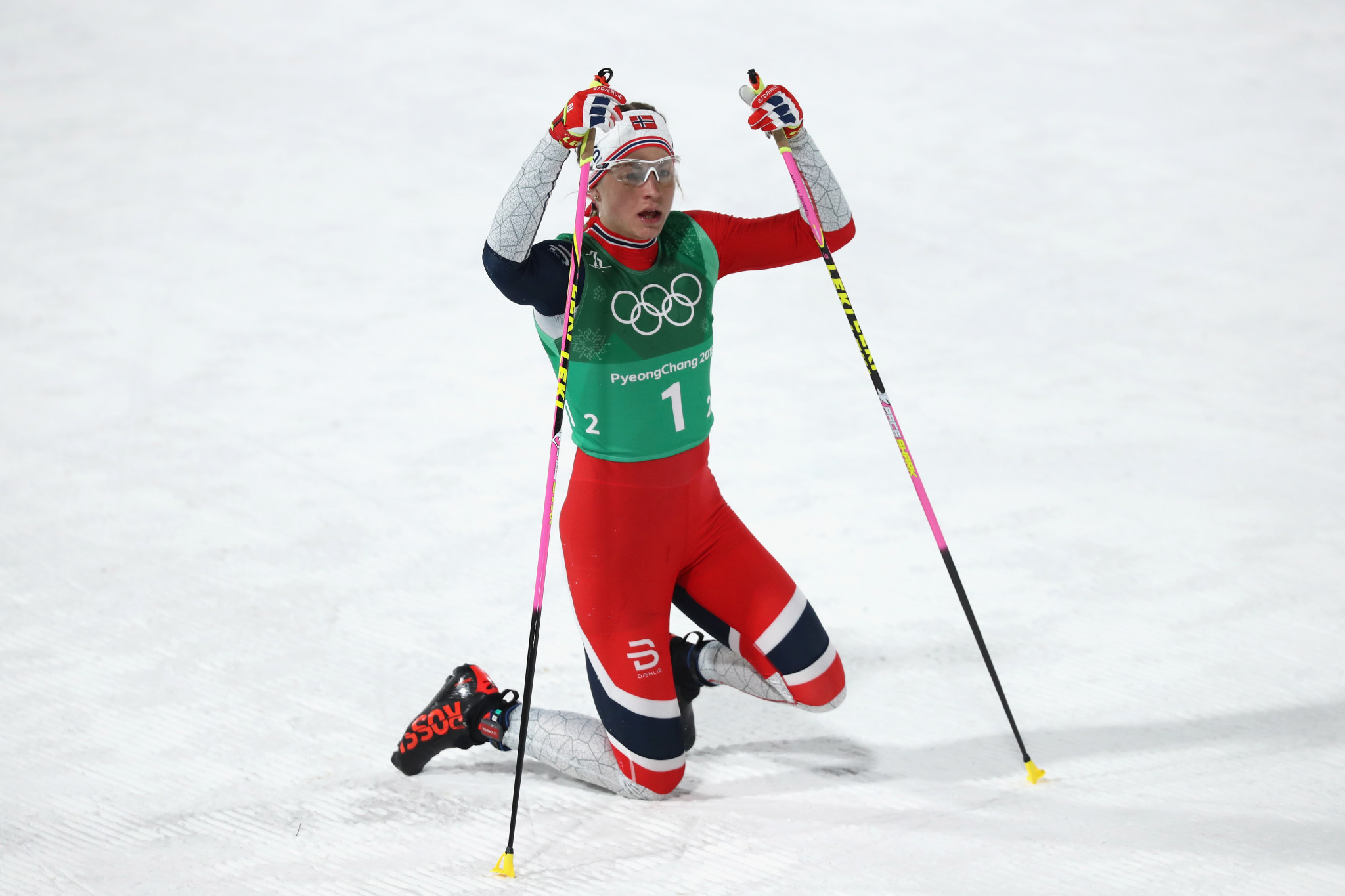 Astrid Uhrenholdt Jacobsen earned a gold medal in the team relay at the Pyeongchang 2018 Winter Olympic Games ©Getty Images