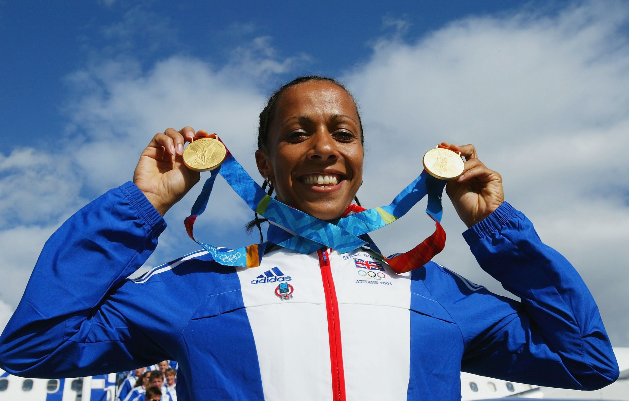 Dame Kelly Holmes claimed two middle distance golds at the Athens 2004 Games ©Getty Images