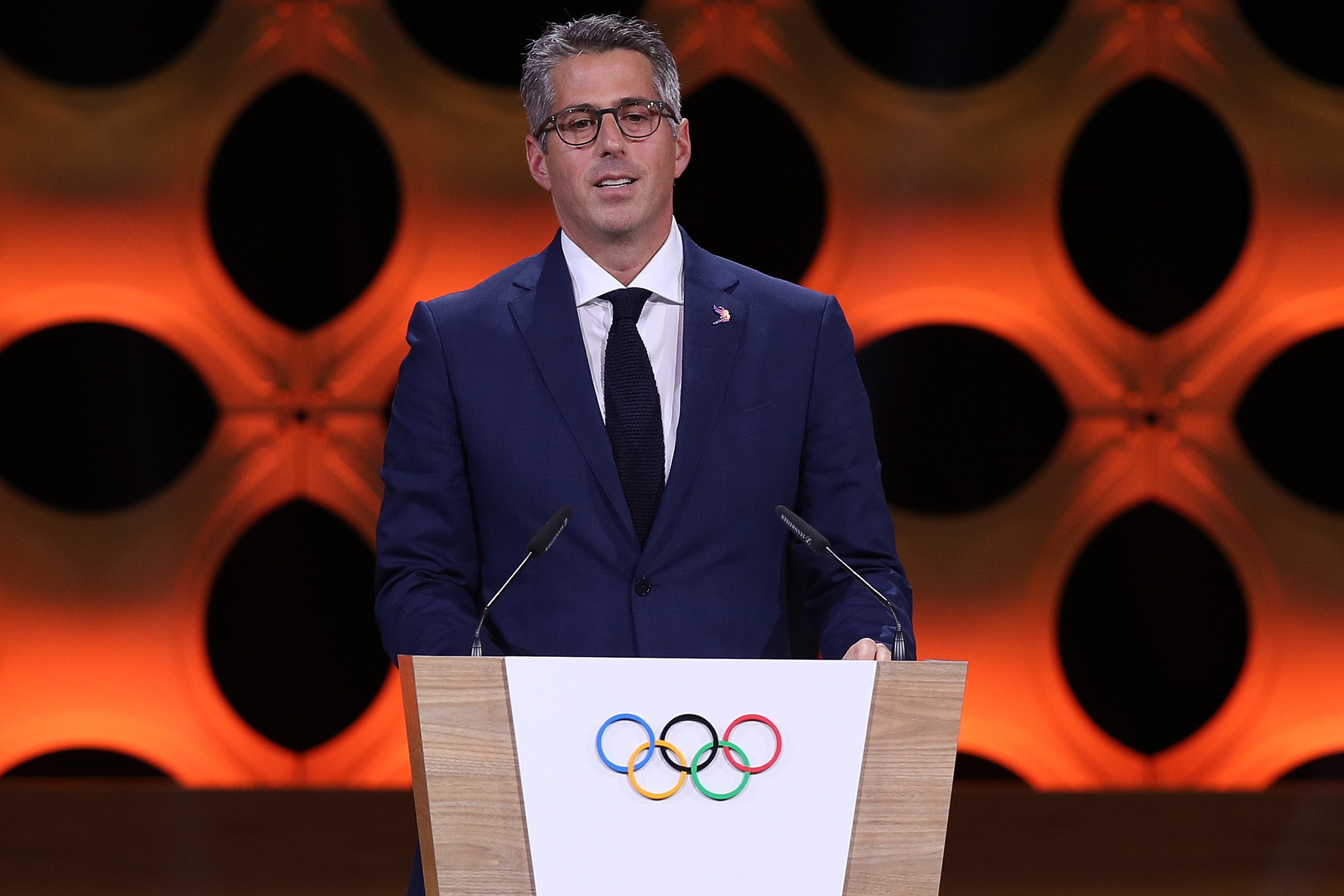 Casey Wasserman is chairman of the Los Angeles 2028 Organising Committee and led the city's successful bid ©Getty Images