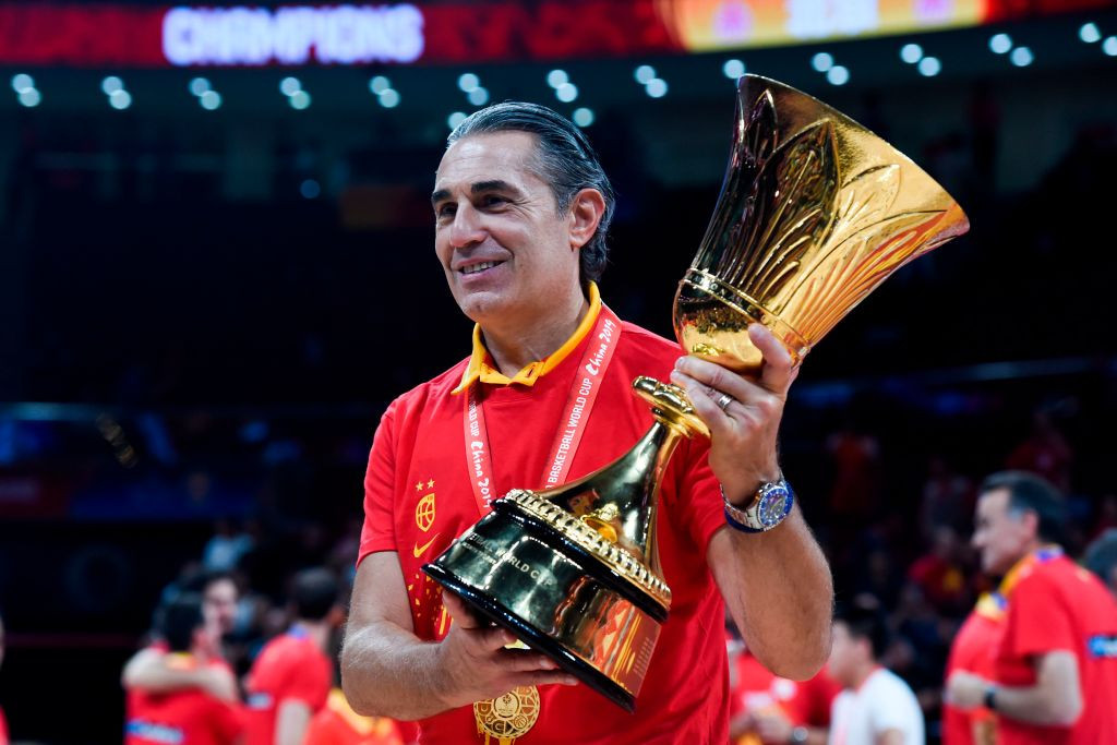 Sergio Scariolo has confirmed he is in talks to extend his contract as head coach of the Spanish men's basketball team ©Getty Images