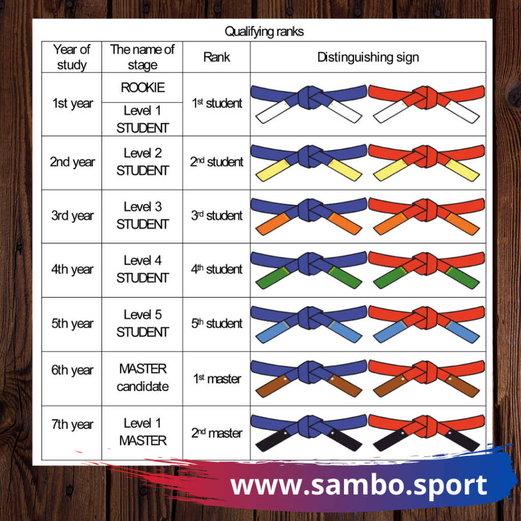 Stripes will be added to the blue or red belts to outline an athletes rank ©FIAS