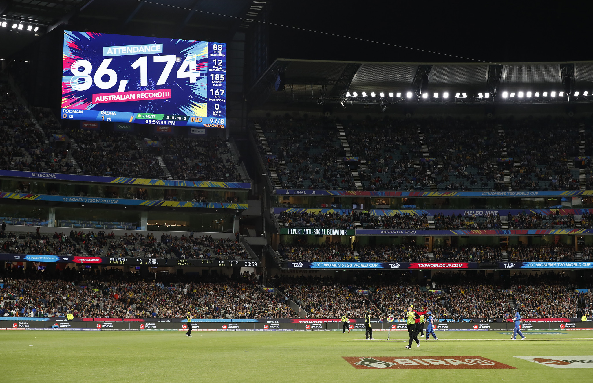 The Women's T20 World Cup final was held in front of 86,174 spectators at Melbourne Cricket Ground ©Getty Images