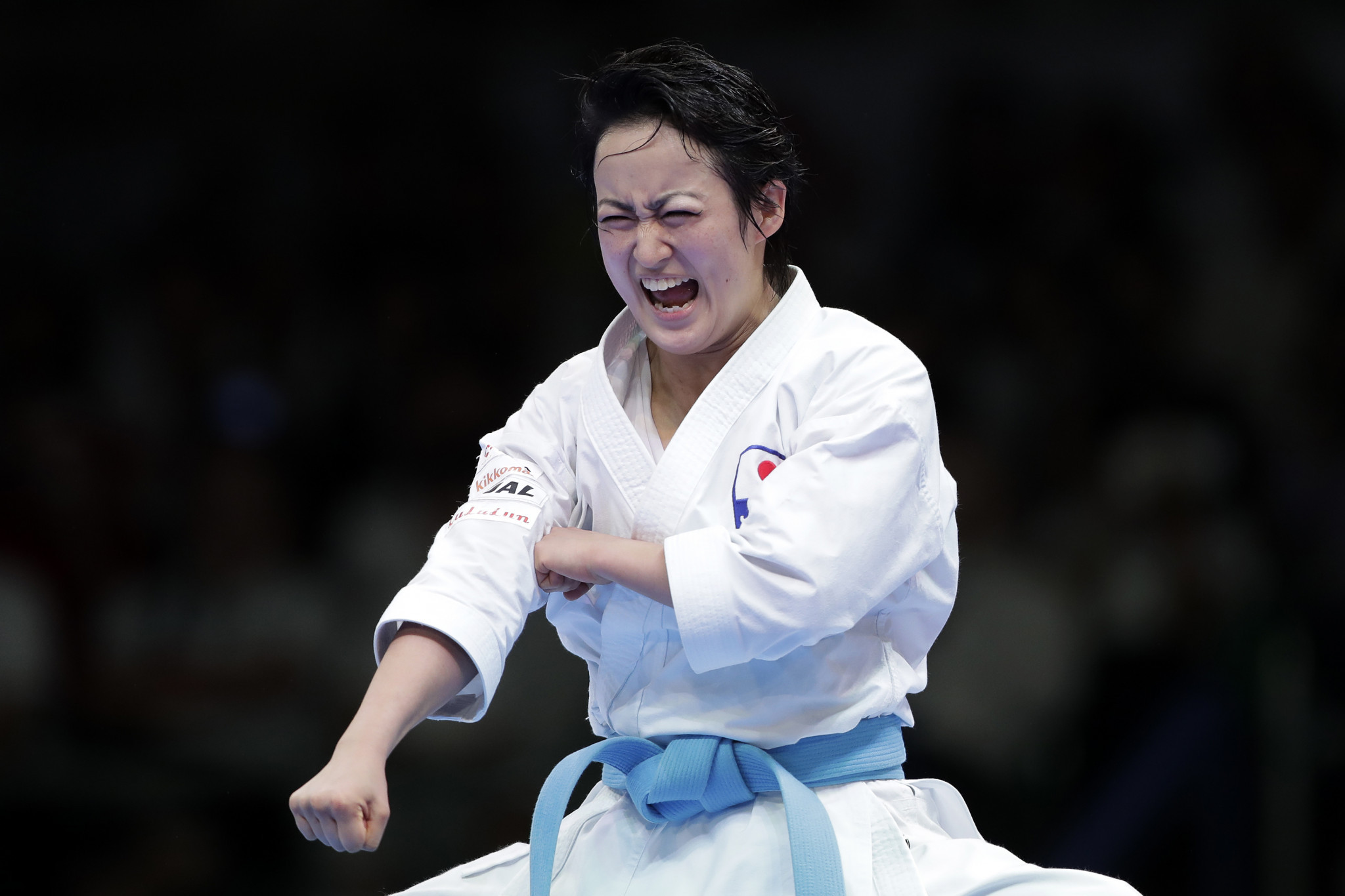 Karate star Shimizu joins campaign to inspire following Tokyo 2020 delay