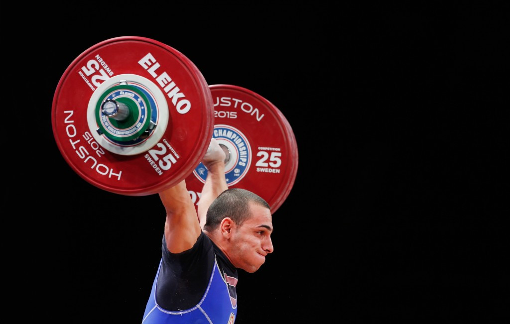 Valentin Hristov is one of three Azeri lifters to be suspended for doping having returned from previous bans this year in time to compete at the World Weightlifting Championships in Houston ©Getty Images
