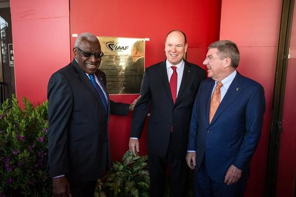 New IAAF HQ opened in Monaco as President Diack joined by Thomas Bach and Prince Albert II
