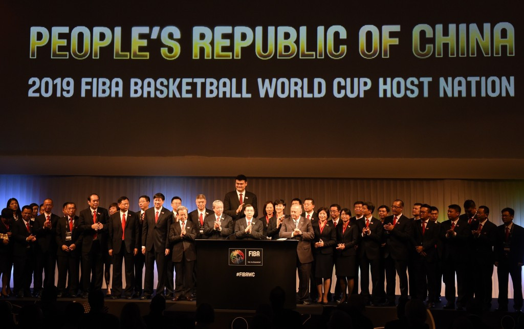 The new partnership between FIBA and the Beijing Enterprises Group includes the 2019 FIBA World Cup in China and the upcoming qualifying tournaments for Rio 2016 ©Getty Images
