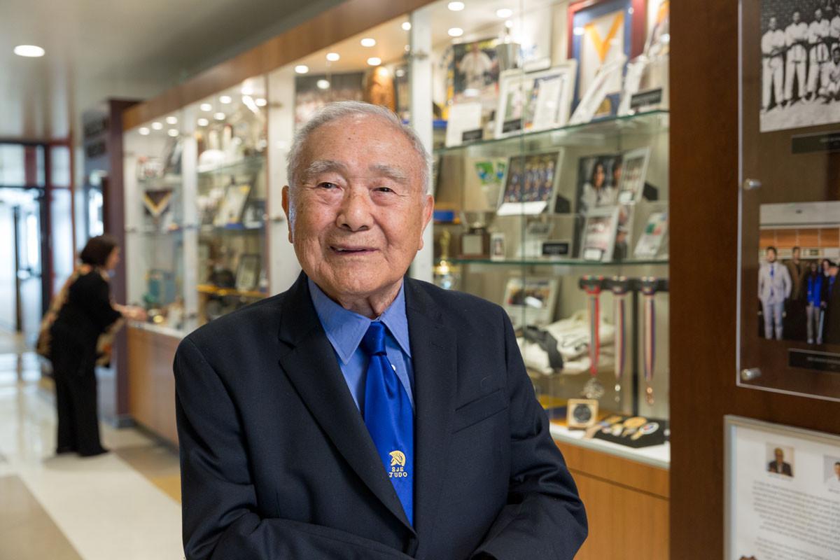 Legendary judo coach Uchida celebrates 100th birthday