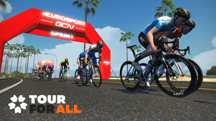 "Eurosport and Global Cycling Network to show Zwift ""Tour for All"" series live"